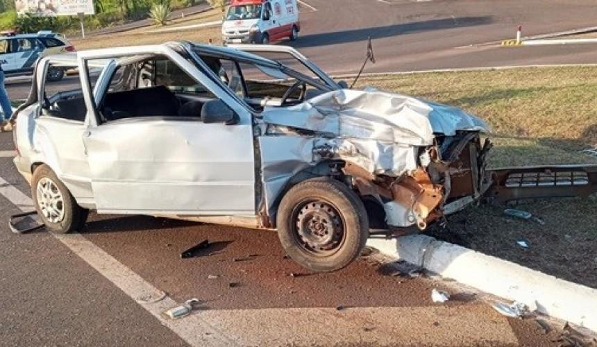 Dois feridos em grave acidente na BR-163